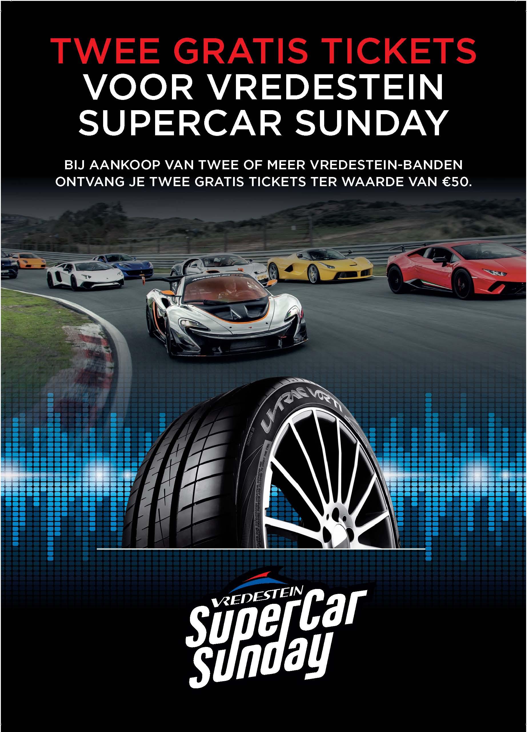 Autobandencheck Vredestein SuperCar Sunday actie