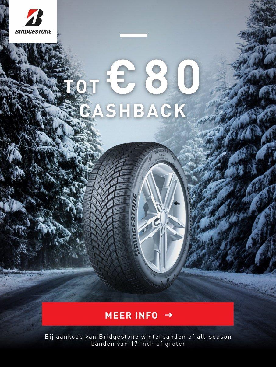 Autobandencheck cashback actie Bridgestone 2019