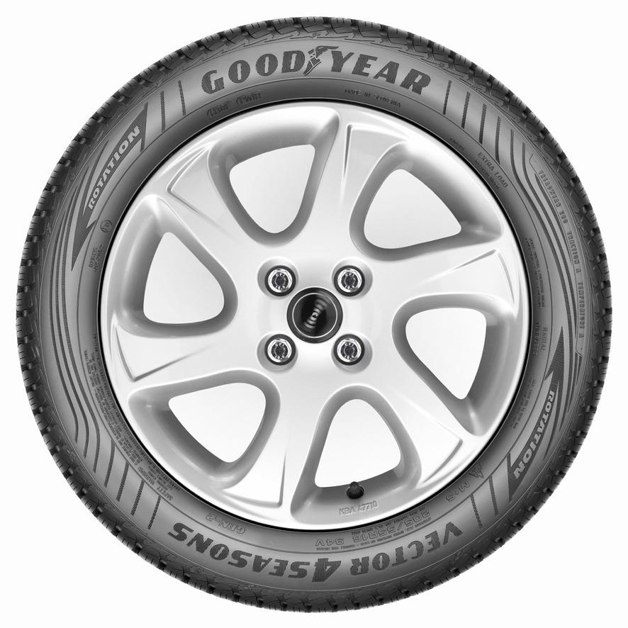 Autobandencheck zijaanzicht Goodyear Vector 4Seasons G2